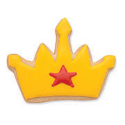 superhero crown cookie