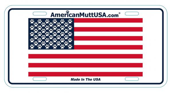american mutt car tag
